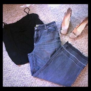 LOFT Wide-Leg, Ankle-Length Jeans